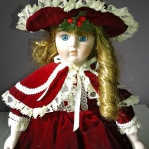 Other - Crown Royal Vintage Christmas Porcelain Doll